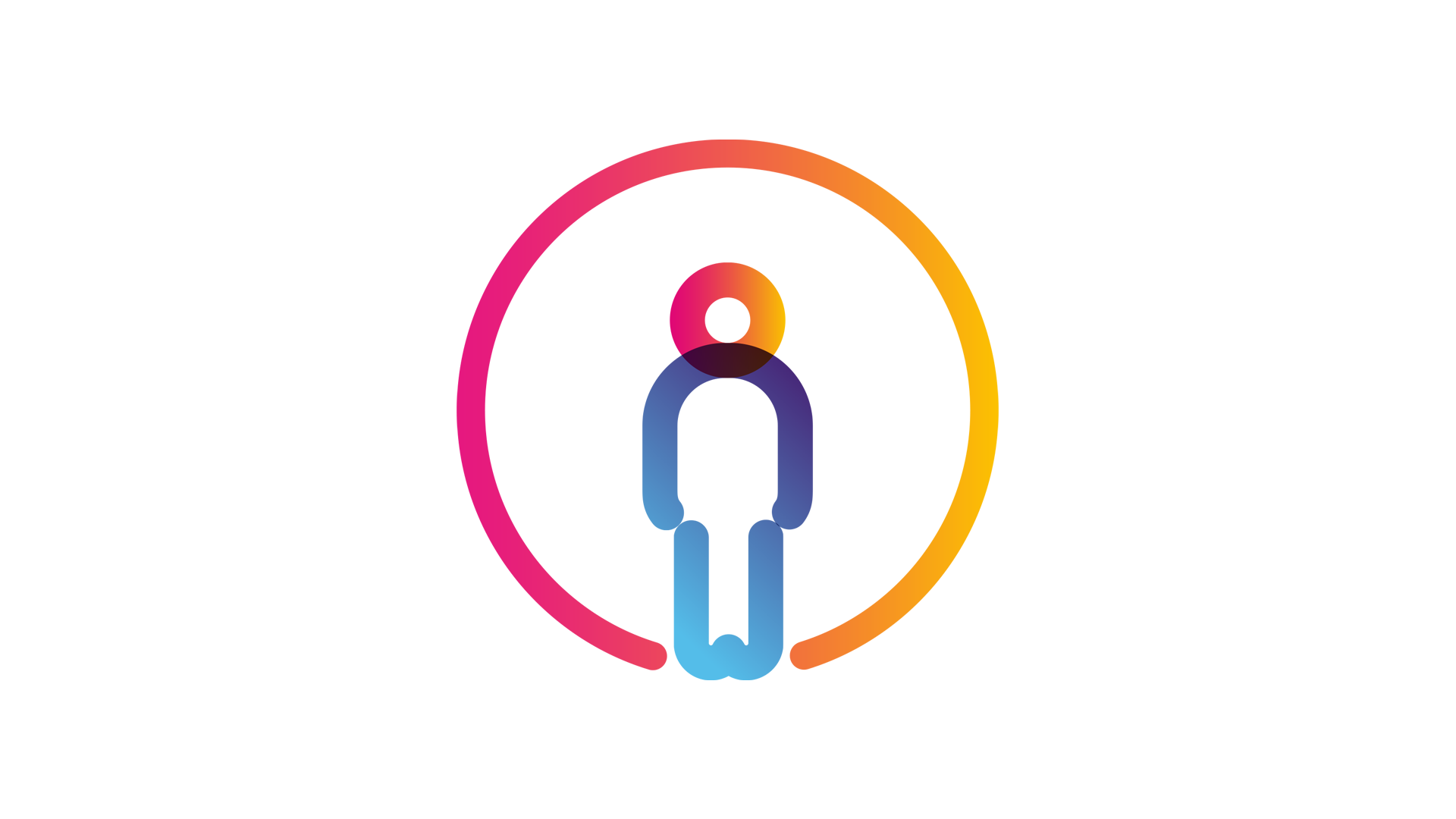 isolated person in bubble icon