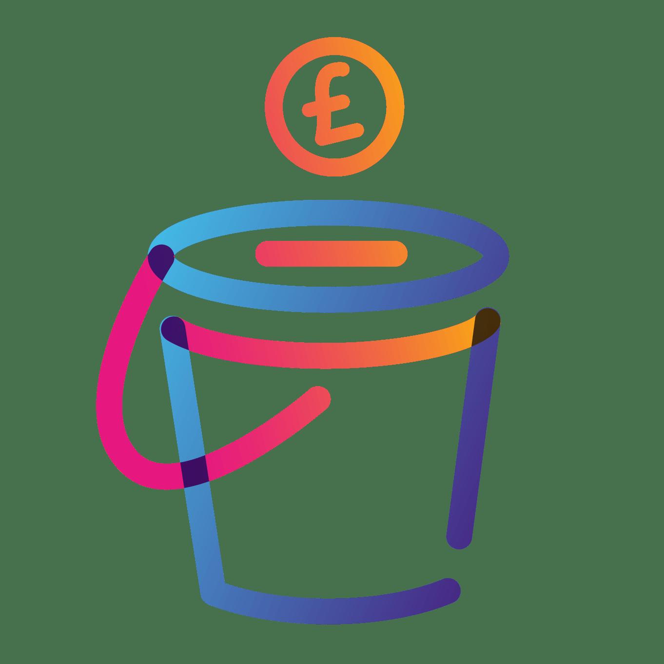 fundraising bucket icon