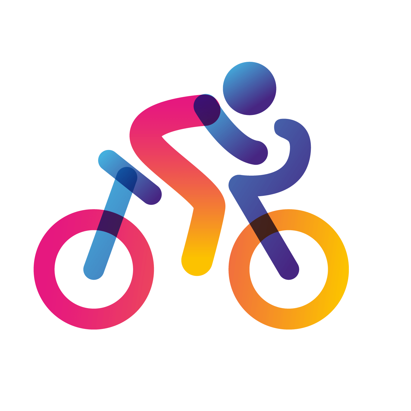 person riding a bicycle icon