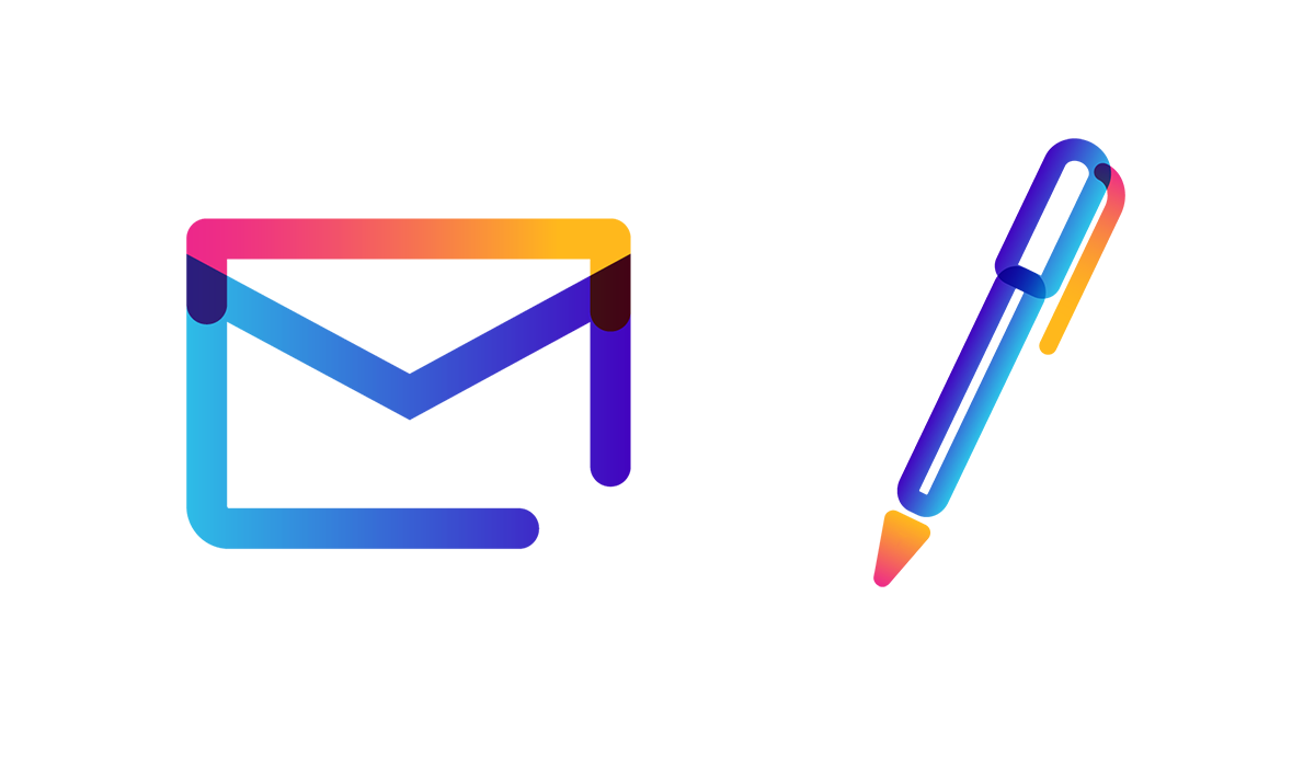 mail envelope and pen icons